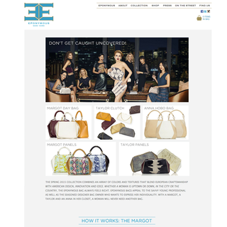 Eponymous New York Luxury Handbags