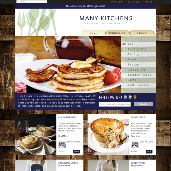 Many Kitchens an Online Marketplace for Artisanal Food