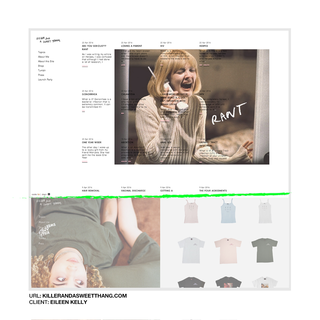 designed + developed, custom blog design(via ghost blog), bottom shows custom store/lookbook