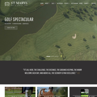 Ellipsis Digital - Ecommerce Marketer - St.Mary's Golf & Country Club - Home Page