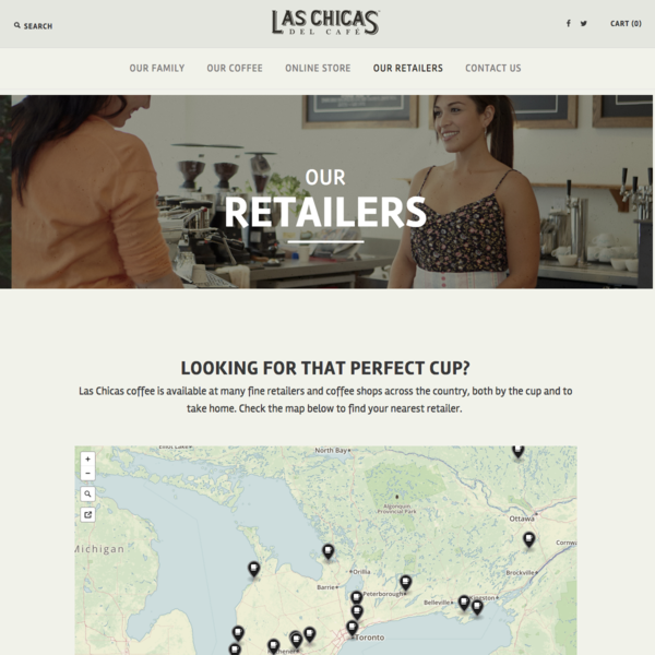 Las Chicas del Cafe - Our Retailers