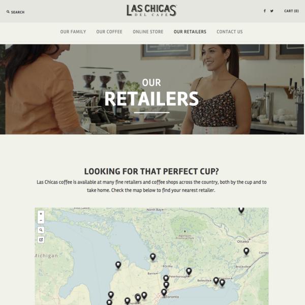 Las Chicas del Cafe - Our Retailers