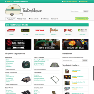 Graydian Technologies + Design - Ecommerce Designer / Setup Expert - Teardrop Shop. An extremely successful camping supplies store.