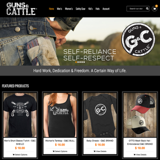 Guns & Cattle. Apparel for the self-reliant.
