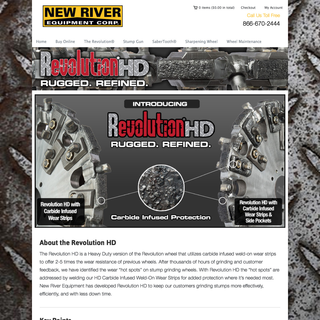 Graydian Technologies + Design - Ecommerce Designer / Setup Expert - New River Equipment. Heavy duty stump grinders.