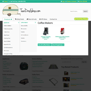 Graydian Technologies + Design - Ecommerce Designer / Setup Expert - Custom Mega Menu for the Teardrop Shop.