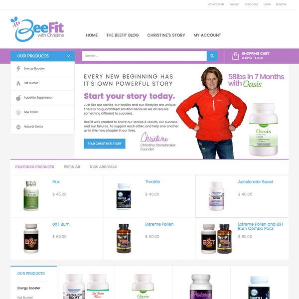 Dietary Supplement Shop - Really helped our client stand out from the highly competitive resellers.