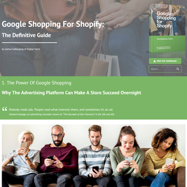 Google Shopping for Shopify book authored by Joshua from Digital Darts