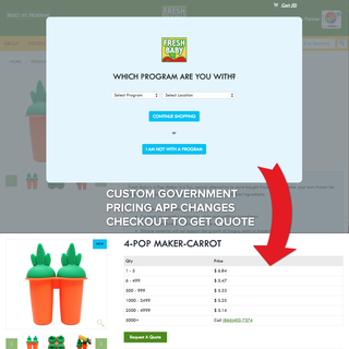 Custom App - Government Pricing Custom Checkout without Credit Card