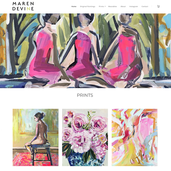 Maren Devine Art - setup website