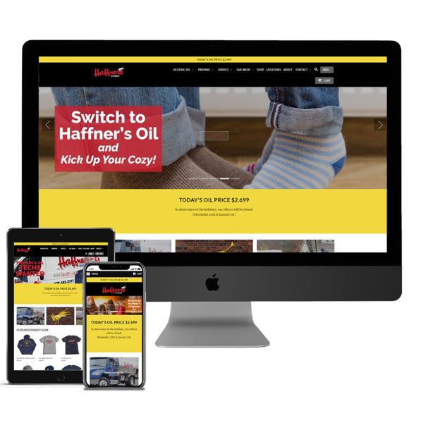 (Haffner's) Built Out Shopify Theme for client based on their design.