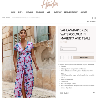 Harla - Product Page