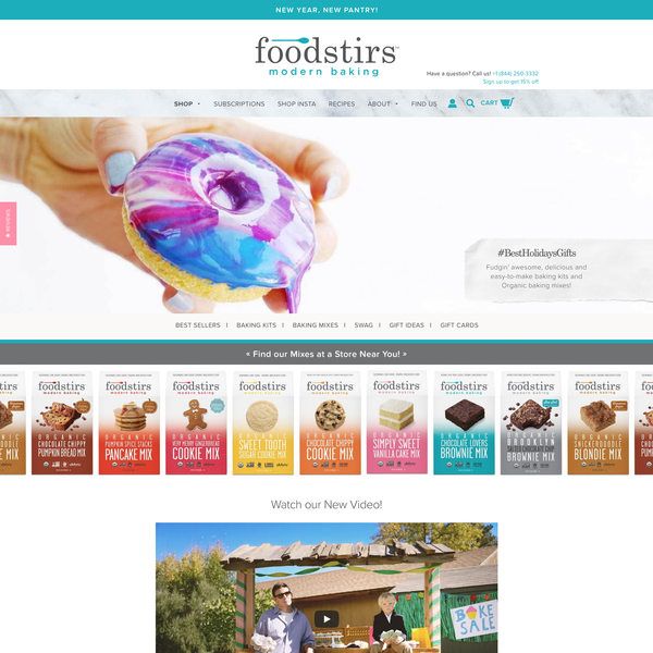 FoodStir - Baking Online Store
