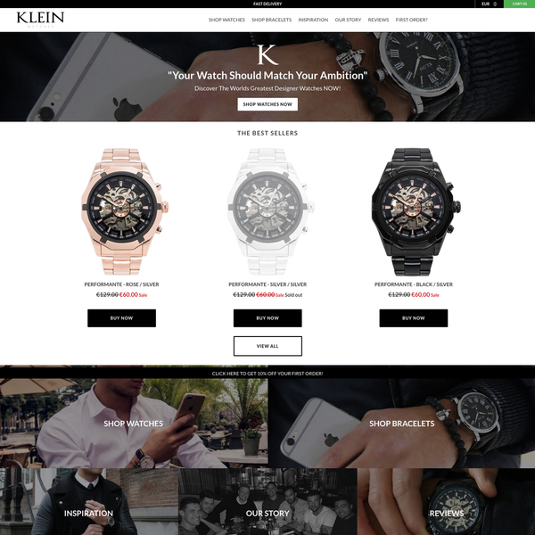 Klein Watches - Shopify eCommerce Store