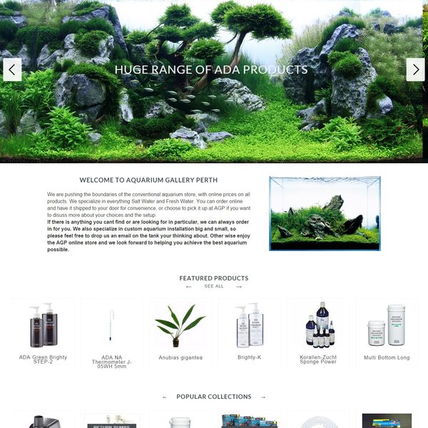 Aquarium Gallery - Design customization, store set-up, custom programming
