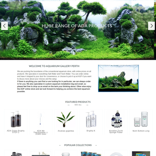 Parkhya Solutions - Ecommerce Setup Expert - Aquarium Gallery - Design customization, store set-up, custom programming