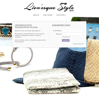 Custom Shopify app for Lionesque Style to support vendors.