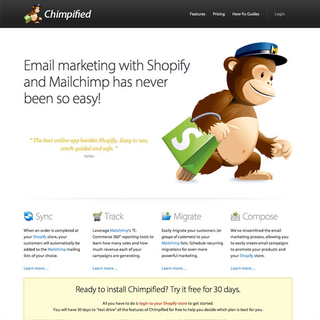 Chimpified connects Shopify to Mailchimp.