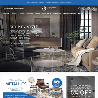 Interiors Online, designed, marketed and developed by 30 acres