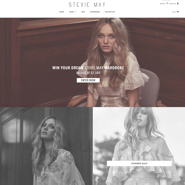 Stevie May, an effective fashion site benefitting from 30 acres marketing and development