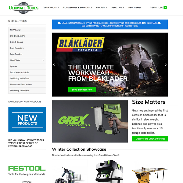 As Canada's leading tool distributor, Ultimate Tools sales have exploded do to their new website.