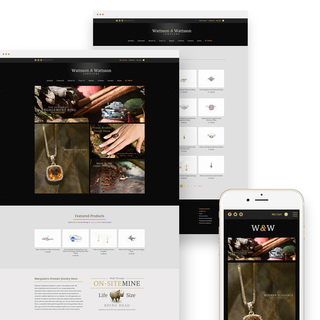 Custom design & responsive build in the fine jewelry and accessories space.