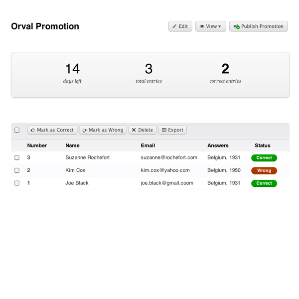 Promify app - Promotion of a product from Shopify store