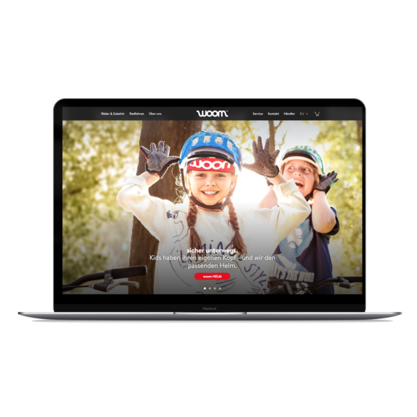 Ein sehr individueller Onlineshop für die Kinderfahrräder von Woom.