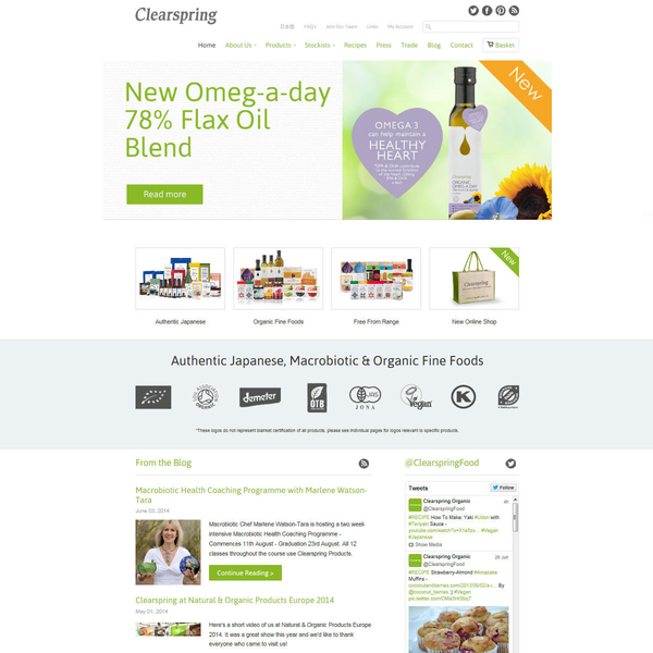 www.clearspring.co.uk - Organic Food