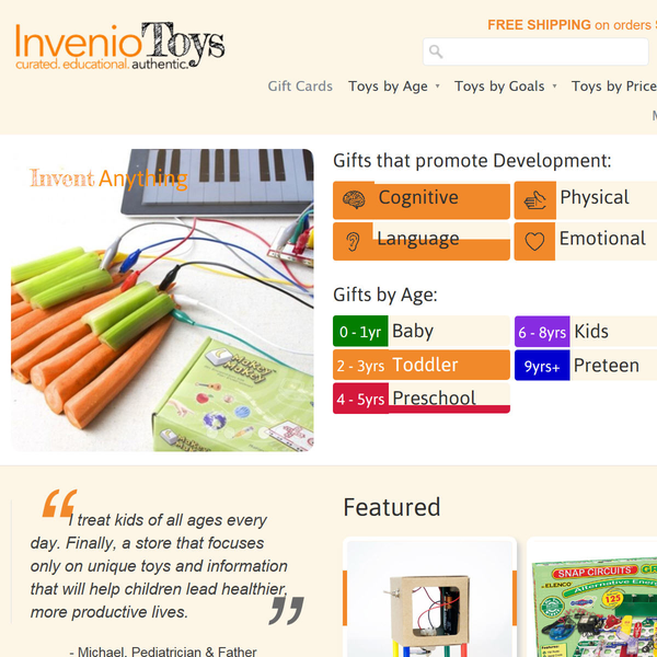 www.inveniotoys.com - Unique Educational Toys