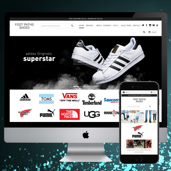 Website design & development for Shoe store