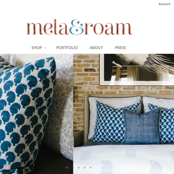 New Shopify store for Houston based Mela & Roam
