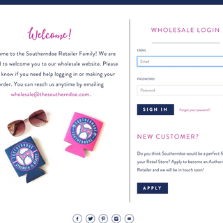 Wholesale landing page lock screen developed without an app