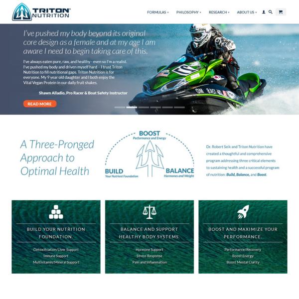 Triton Nutrition - Supplement Company E-Commerce