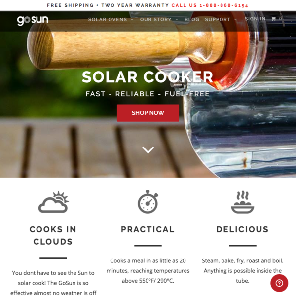 GoSun Stove - Solar Powered Stove E-Commerce