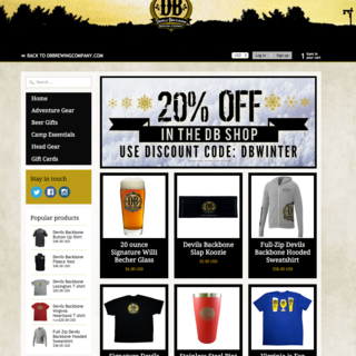 E-commerce site for regional craft brewing company