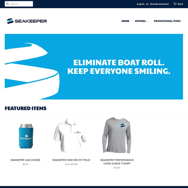 E-commerce and merchandise site for ship technology company