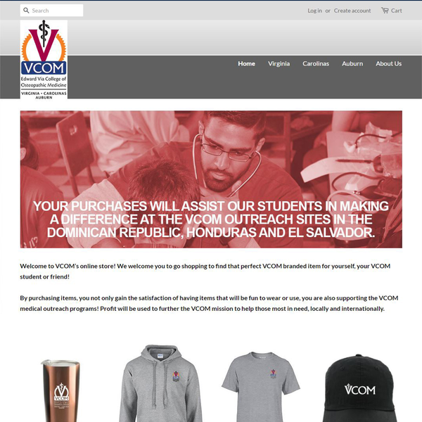E-commerce and merchandise site for osteopathic medicine organization