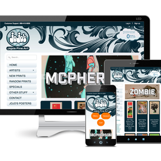 E-commerce: responsive design tablet, mobile, desktop