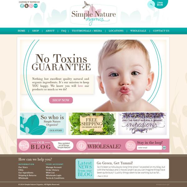 Simple Nature Organic Boutique Design