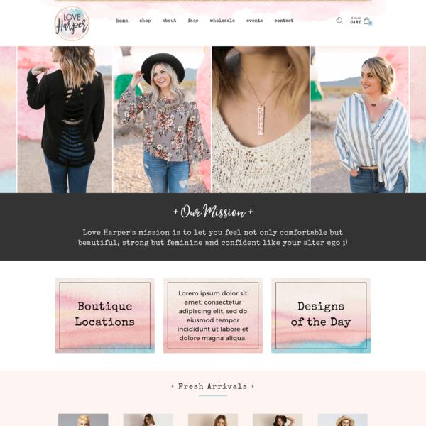 Love Harper Women's Boutique Shopify Design