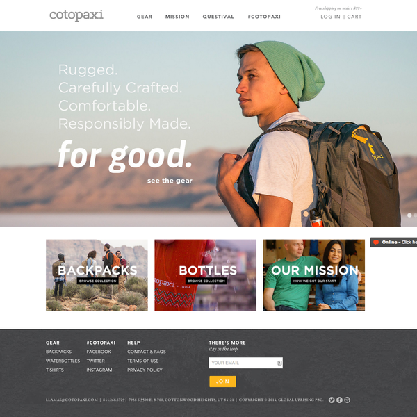 Cotopaxi - Gear for Good