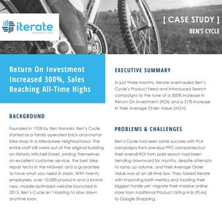 eCommerce Bike Store Case Shopping Study