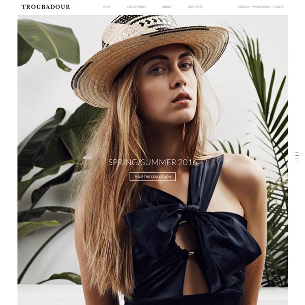 TROUBADOUR www.shoptroubadour.com