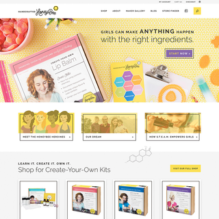 Handcrafted HoneyBee: identity, web design & development, photography, copywriting