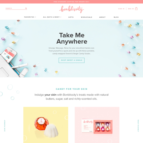 Bonblissity: packaging, photography, web design & development