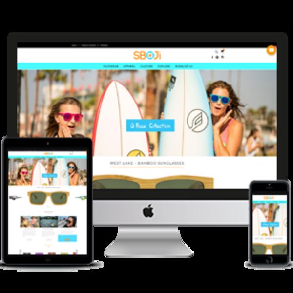 sboji.com - Custom Made Shopify Store For Selling Sun Glasses