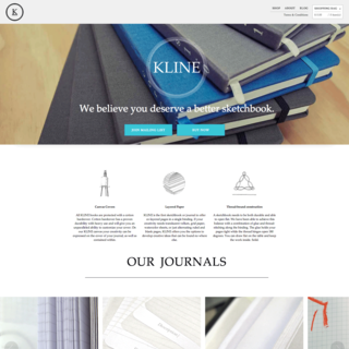 Kline Notebooks Marketing Page & E-Commerce Store