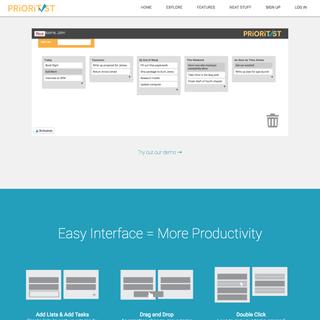 Picnic Factory - Ecommerce Developer / Setup Expert - Prioritist - The Simple Task Management App