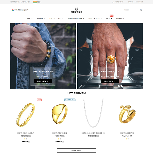 www.mrsfc.com-Shopify Plus Custom Jewellery Store